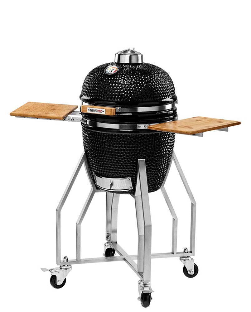 Kamado Chef 1400 barbecue Prestige Diamond Black RVS - USA Spa's Coevorden