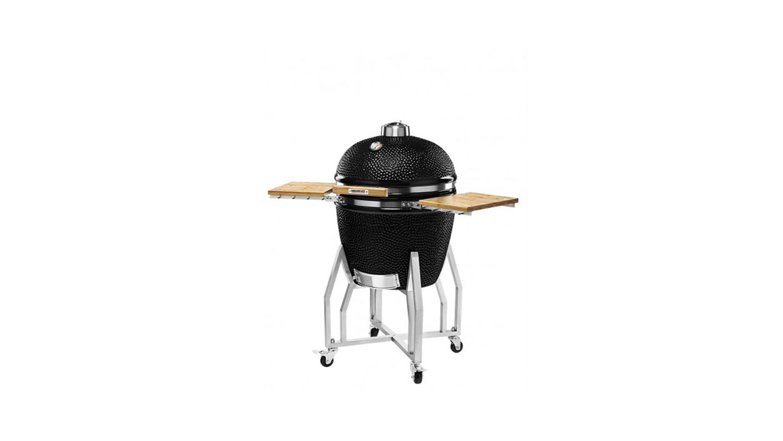 Kamado Chef 2200 barbecue prestige diamond black RVS - USA Spa's Coevorden