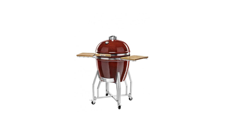 Kamado Chef Barbecue 2200 Prestige Red Smooth RVS - USA Spa's Coevorden