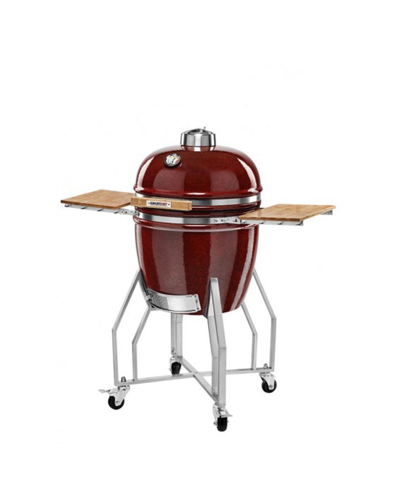 Kamado Chef 1900 barbecue prestige red smooth RVS - USA Spa's Coevorden