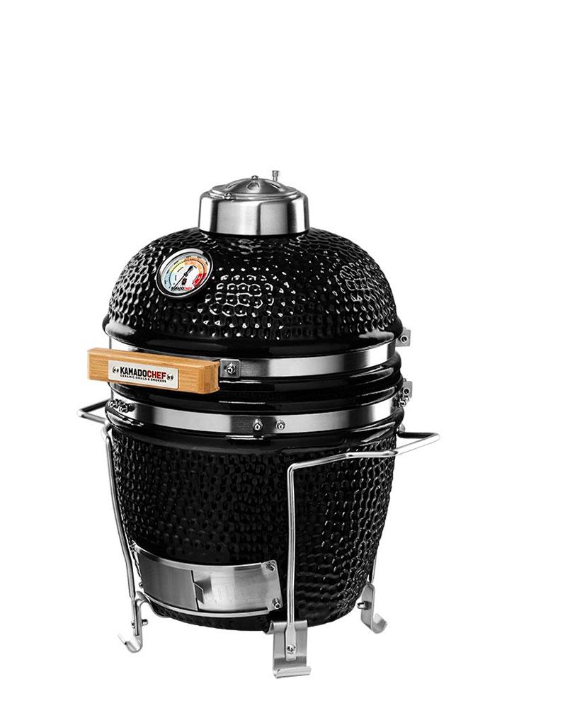 Kamado Chef 1100 barbecue Pestige_Diamond Black RVS - USA Spa's Coevorden