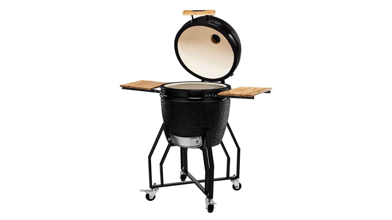 Kamado Chef 1900 barbecue Classic Diamond Black staal - USA Spa's Coevorden