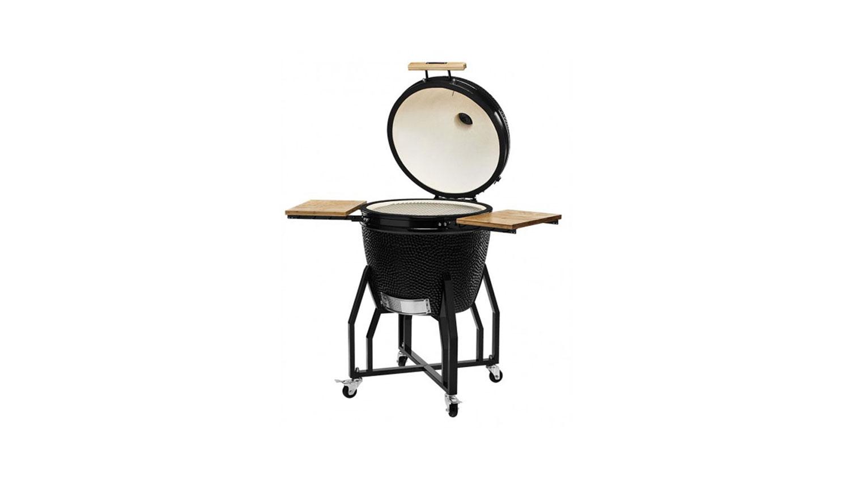 Kamado Chef barbecue 2200 Classic Diamond Black staal - USA Spa's Coevorden